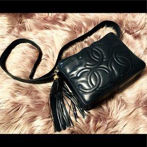 Rare Vintage Chanel Triple CC Crossbody Bag